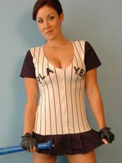 Krissy Likes To Play A Little Baseball